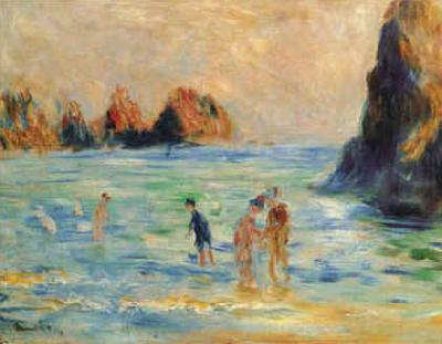 Pierre Renoir Moulin Huet Bay, Guernsey France oil painting art